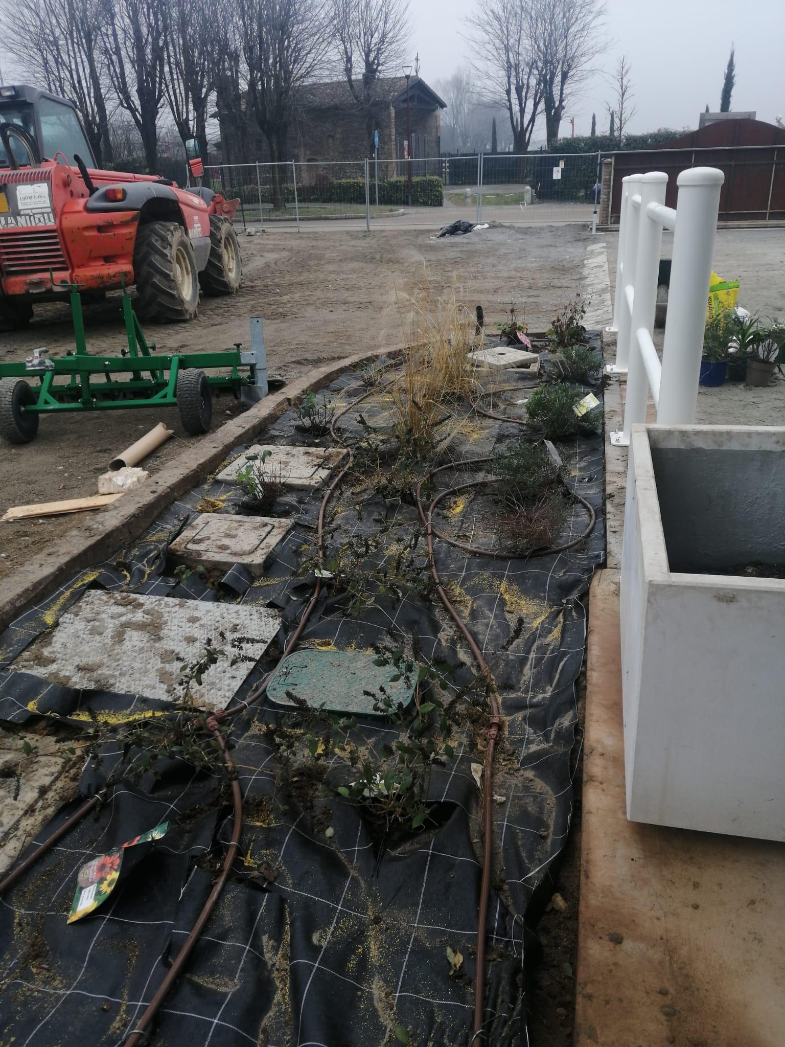 posa impianto di irrigazione