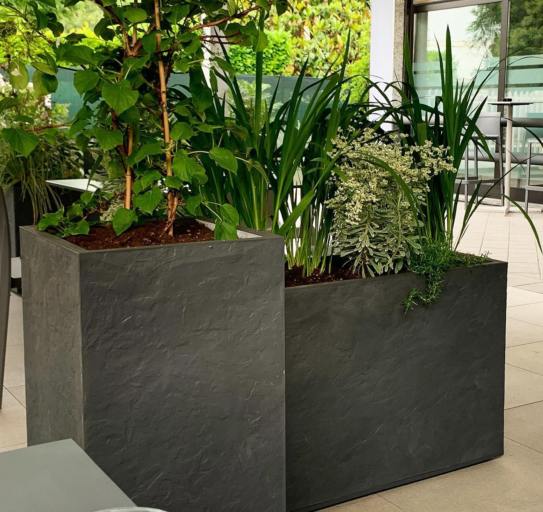 progettazione terrazza floreale